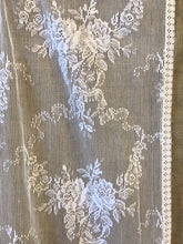 "Stunning white cotton lace Curtain Panel 56""/34"""