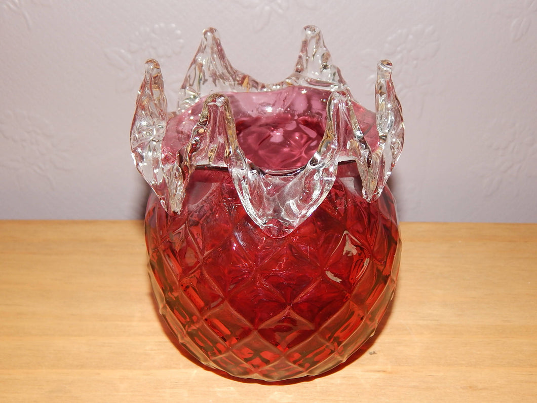 VICTORIAN CRANBERRY GLASS BOWL