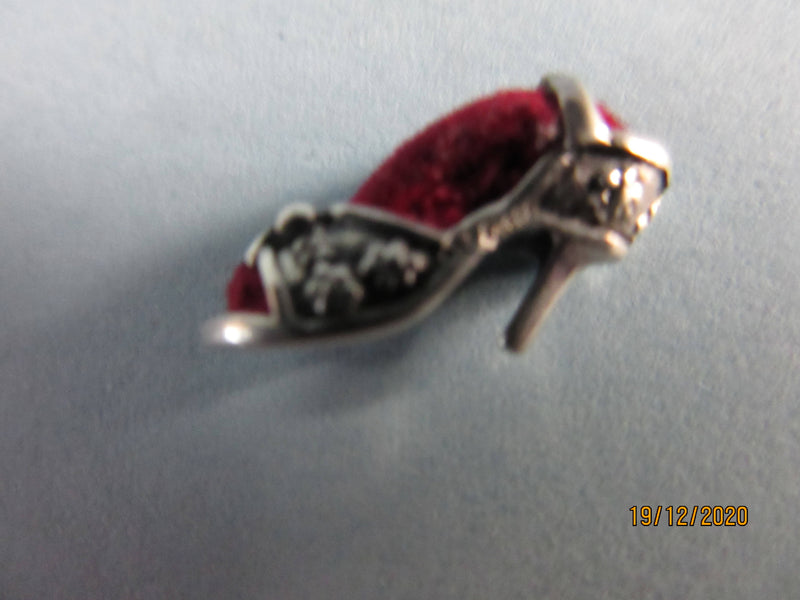 Sterling Silver Antique Style Princess Slipper Shoe Pin Cushion