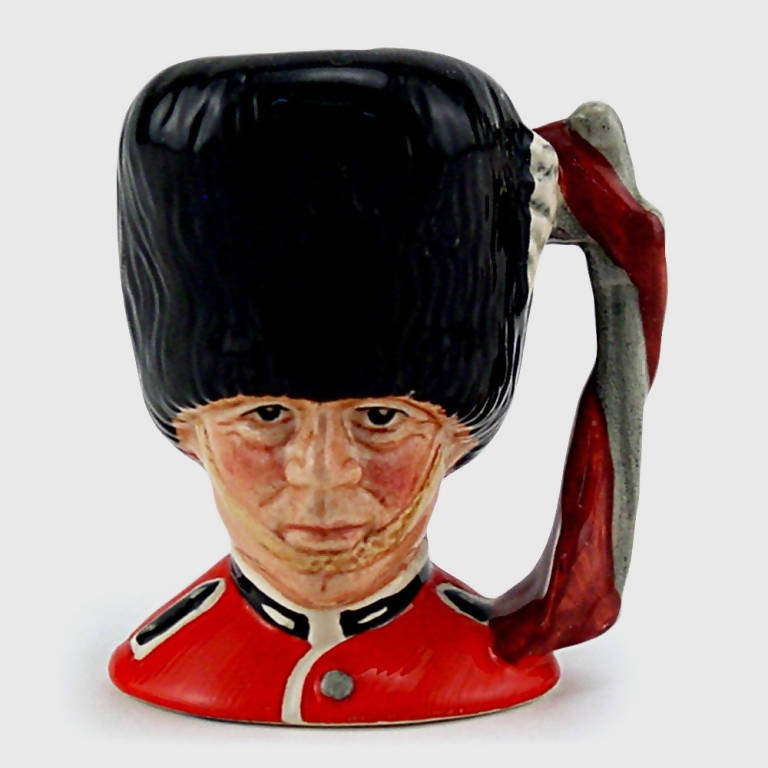 Royal Doulton Miniature Character Jug The Guardsman D6772