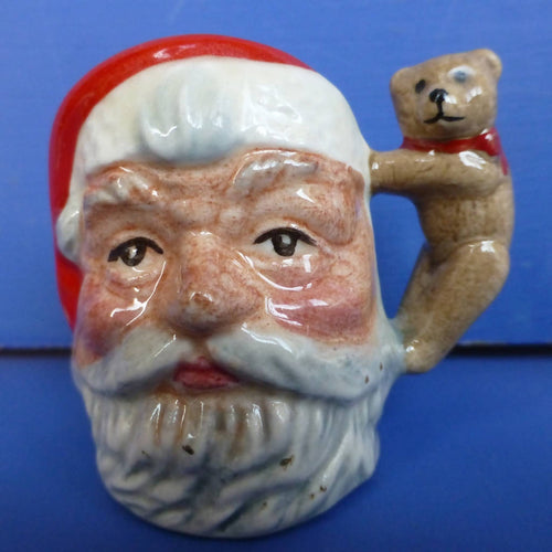 Royal Doulton Tiny Jug Santa Claus D7060 (Teddy Bear Handle)