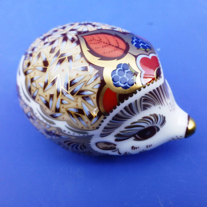 Royal Crown Derby Paperweight - Bramble Baby Hedgehog (Boxed)