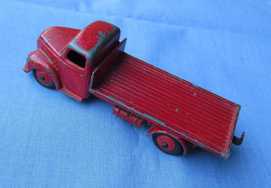 Vintage 1950's Dinky Fordson Thames Flat Bed Truck 422 Red
