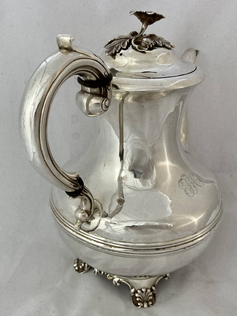 William IV Silver Coffee Pot. London 1832 Richard Pearce & George Burrows. 25 troy ounces.