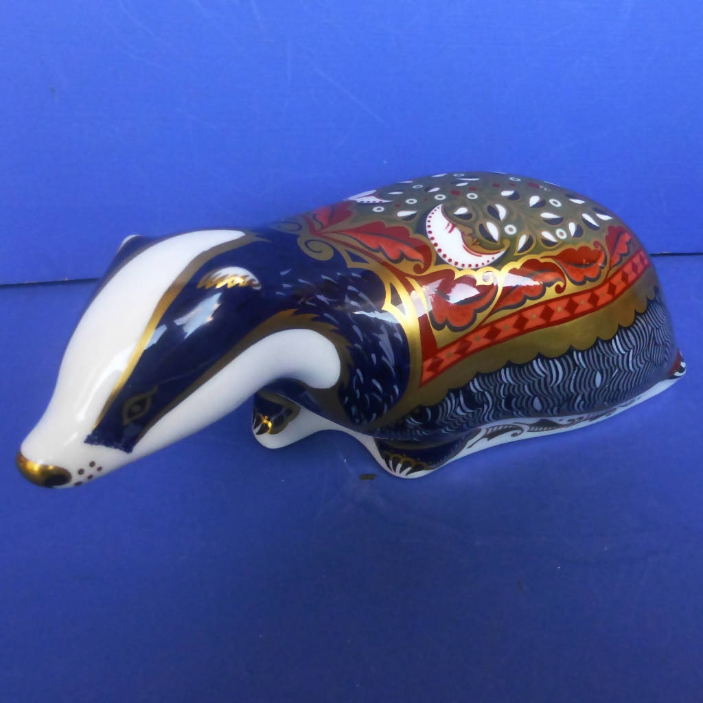 Royal Crown Derby Paperweight Moonlight Badger (Boxed)