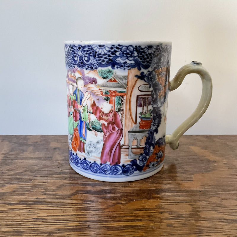 Chinese export porcelain tankard
