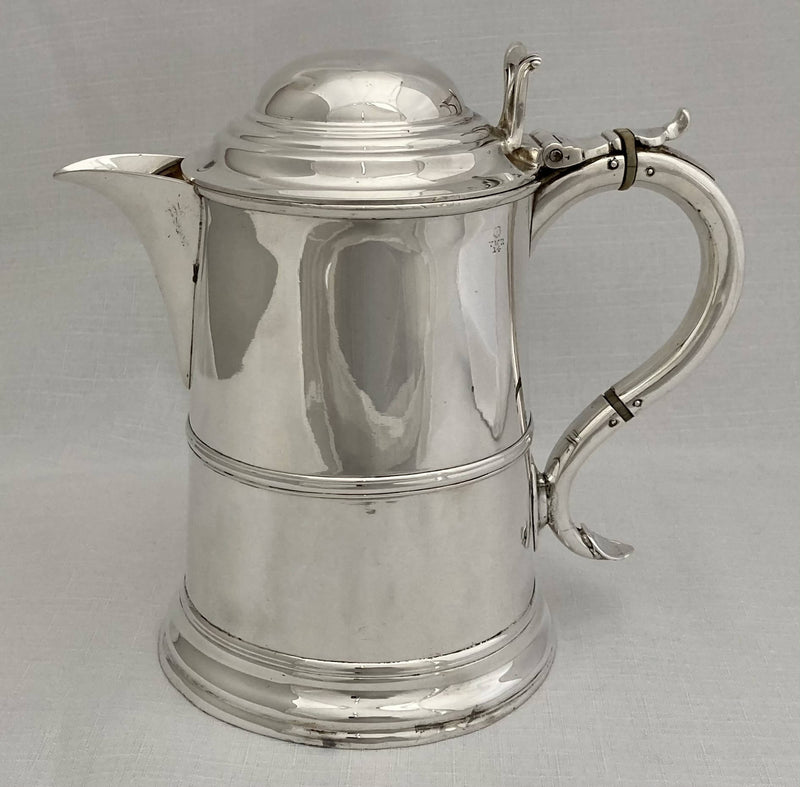 Victorian Silver Plated Tankard Jug in the Georgian Manner.