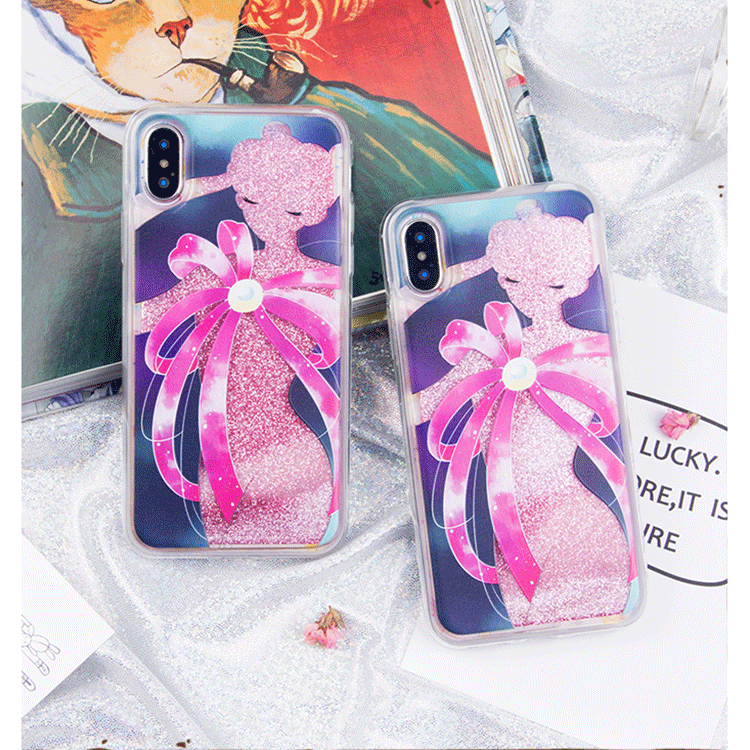 best sneakers cbc81 de63b Sailor Moon Quicksand Liquid Glitter Transformation Phone Case LM36001