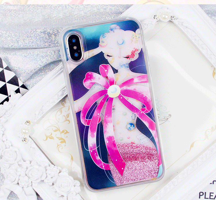 purchase cheap 22880 8c63b Sailor Moon Quicksand Liquid Glitter Transformation Phone Case ...