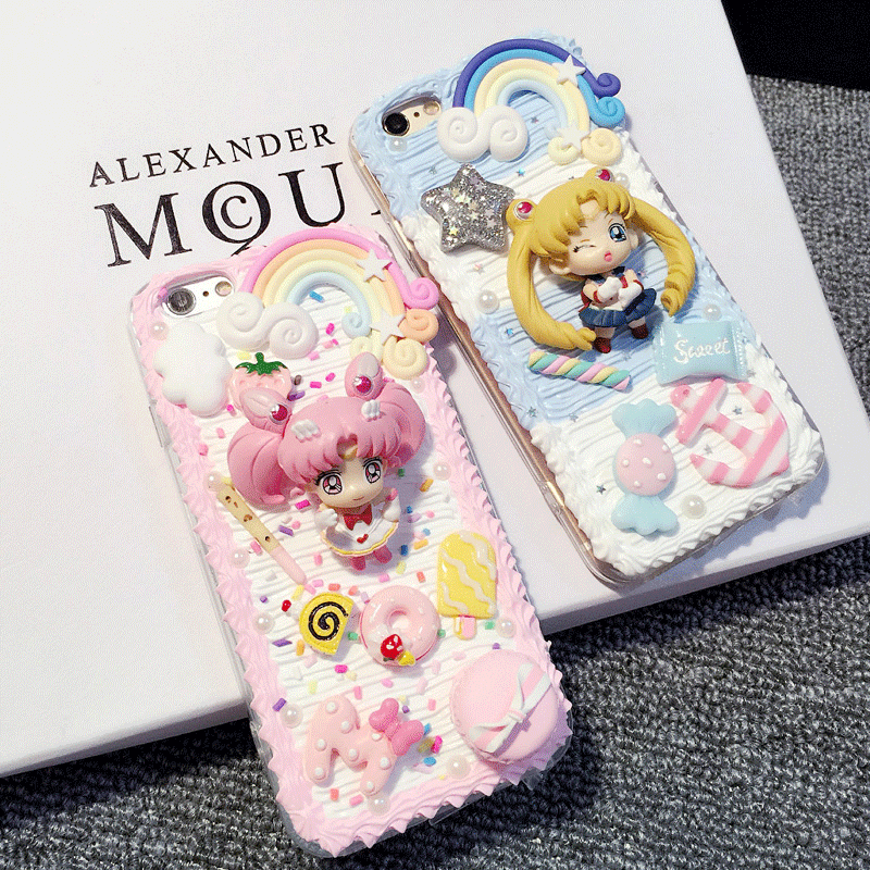 outlet store 71a9e ffa25 Decoden Whipped Cream DIY Sailor Moon Phone Case LM36006 – LollyMomo