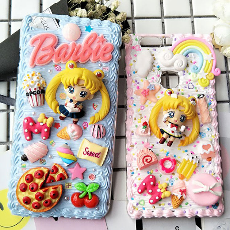 low priced 1f4aa e2ca0 Decoden Whipped Cream Sailor Moon DIY Phone Case LM36008