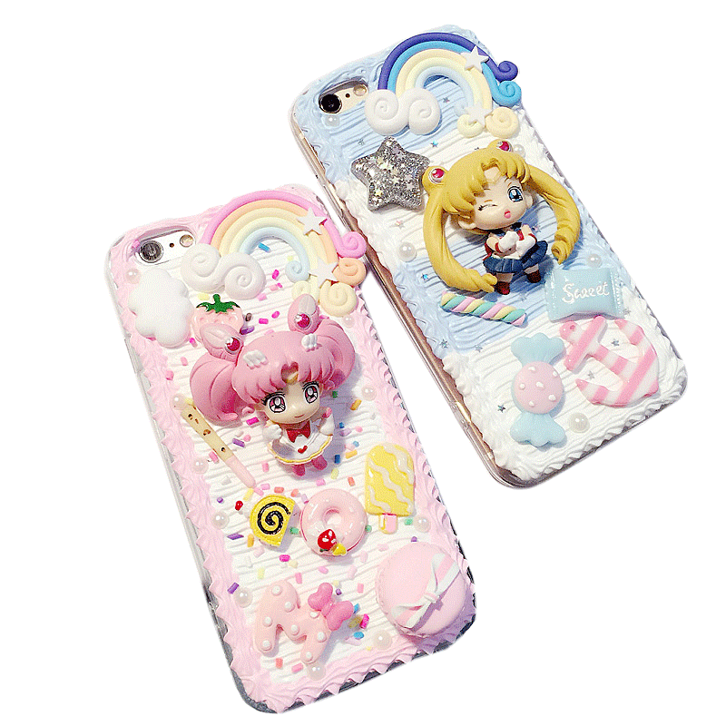 reputable site fff27 0ce6d Decoden Whipped Cream DIY Sailor Moon Phone Case LM36006