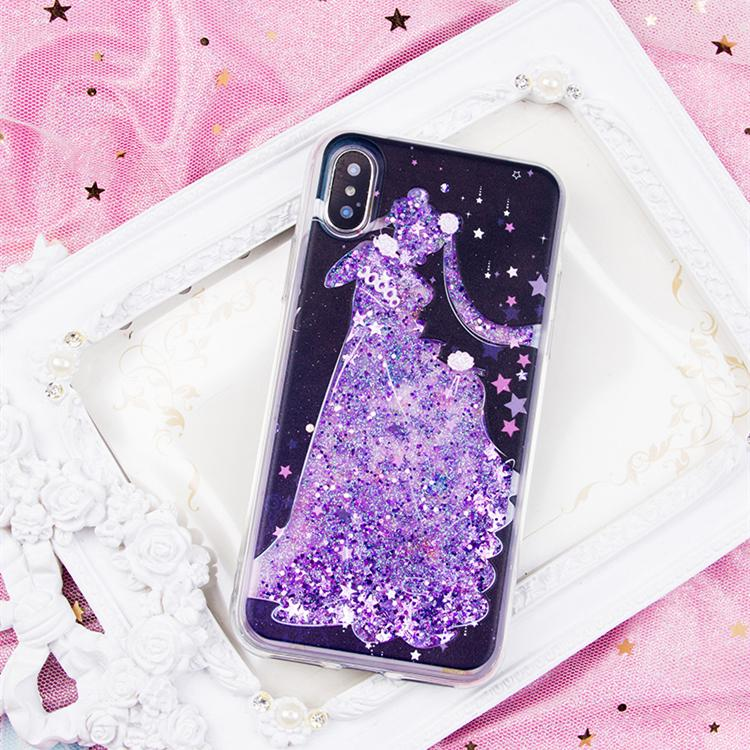 innovative design 3d17c e38a0 Sailor Moon Serenity Quicksand Liquid Glitter Phone Case LM36002