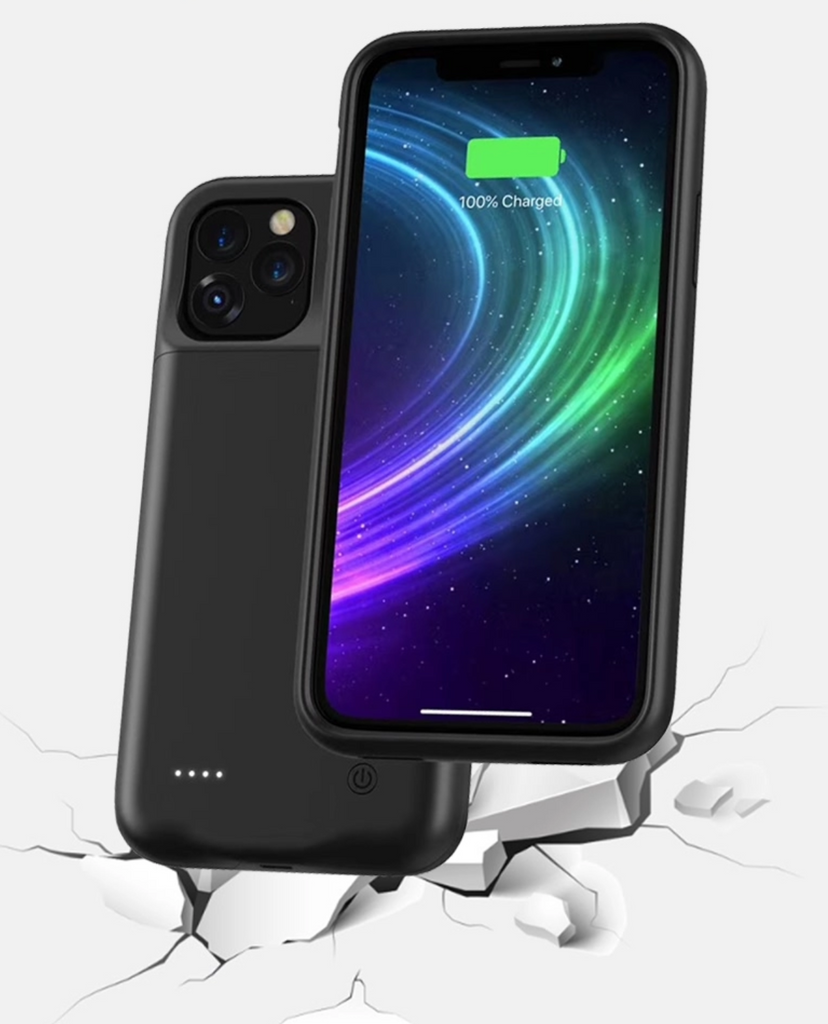 iPhone 11 Pro Max Wireless Charging Battery Case (4500mah) - Plus Battery Cases