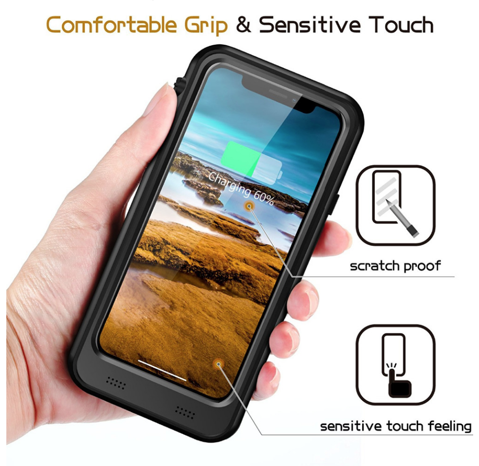 iPhone XS Battery Case: Waterproof & Wireless Charging (3400 mAh) - Plus Battery Cases