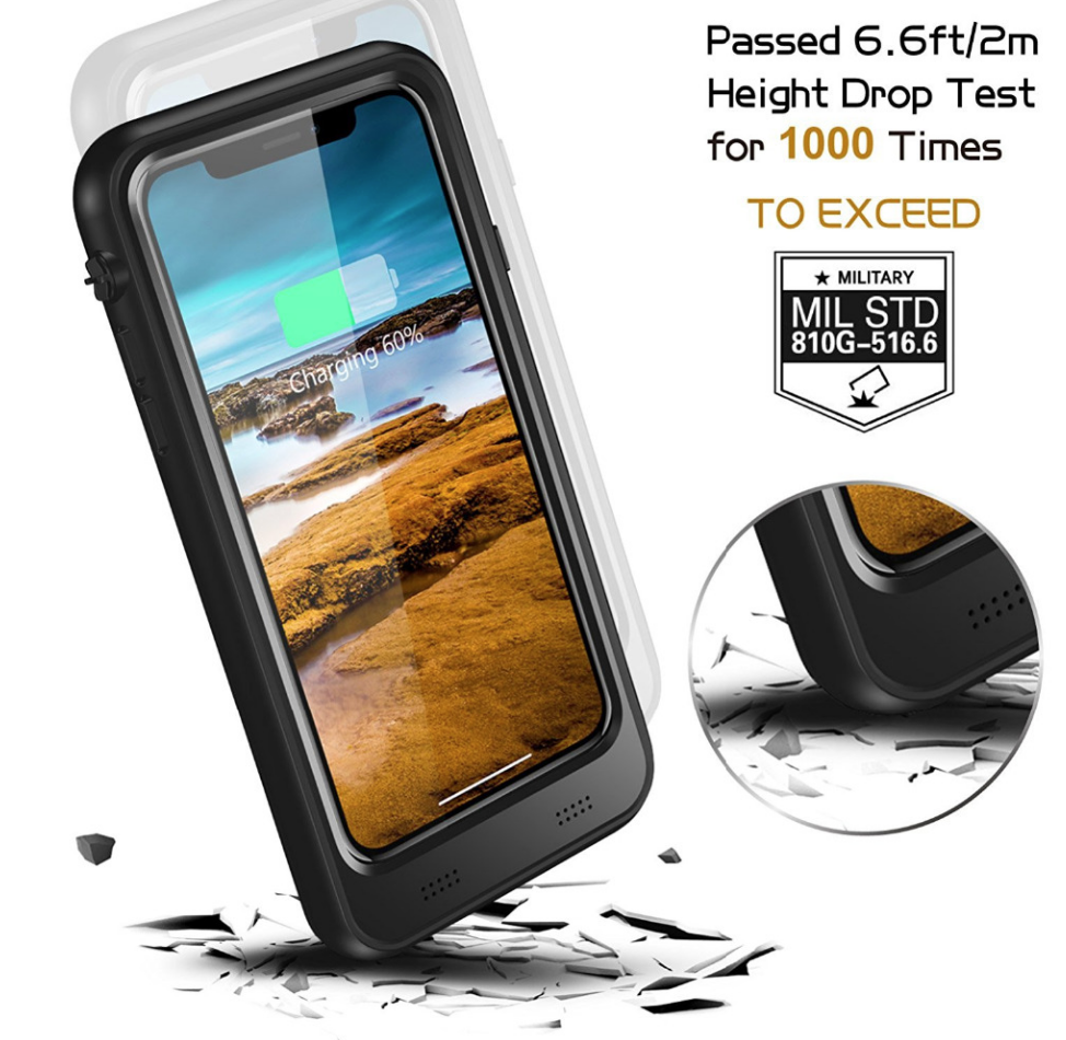 iPhone 8 Battery Case: Waterproof & Wireless Charging (3000 mAh)