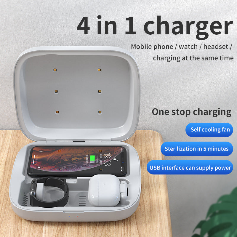 PlusProtect UV Sanitizing 4-in-1 Wireless Charging Box