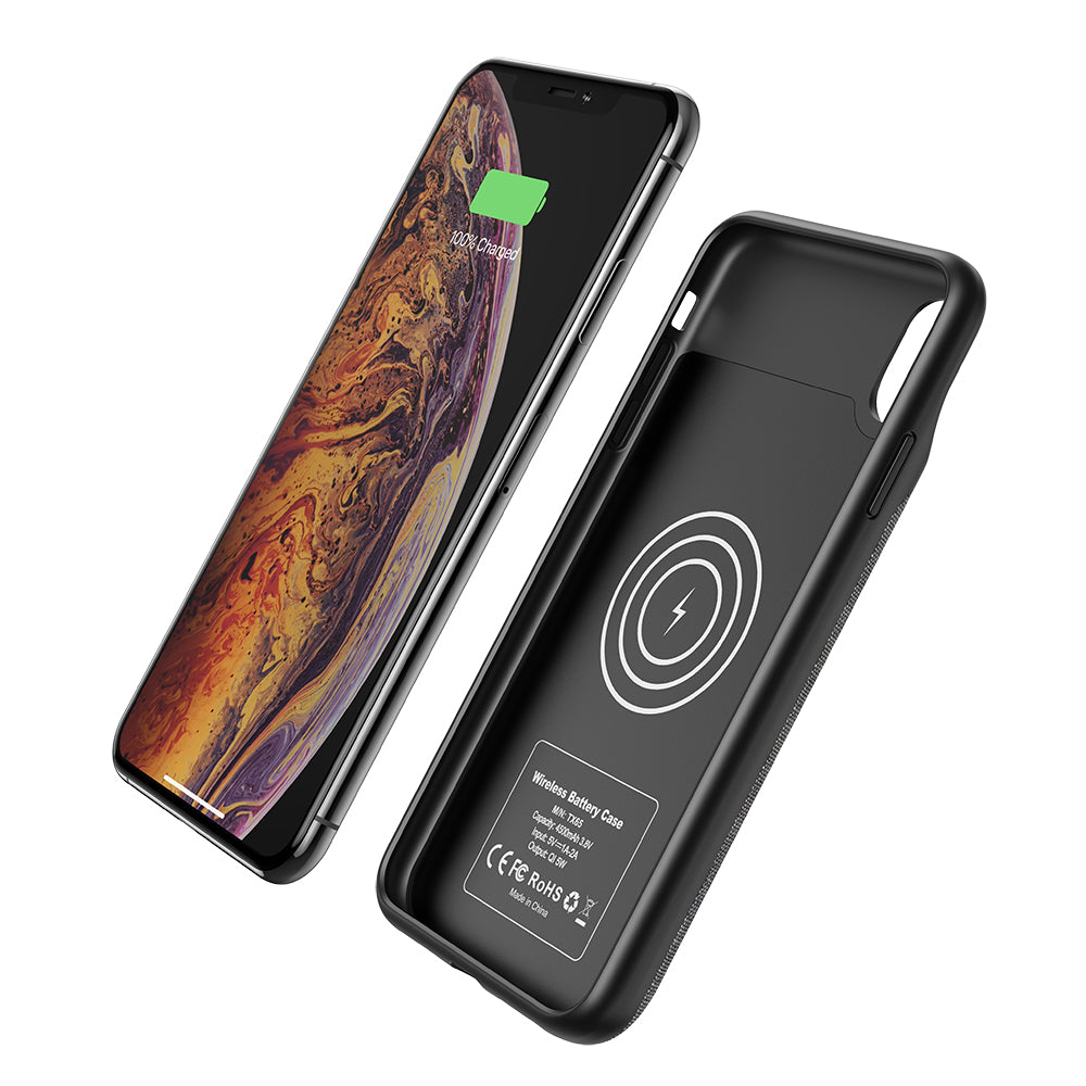 iPhone XR Wireless Charging Battery Case (4500mah) - Plus Battery Cases