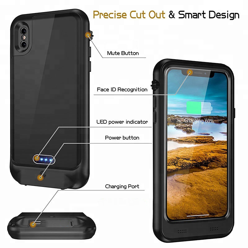 iPhone 11 Battery Case: Waterproof & Wireless Charging (3600 mAh)