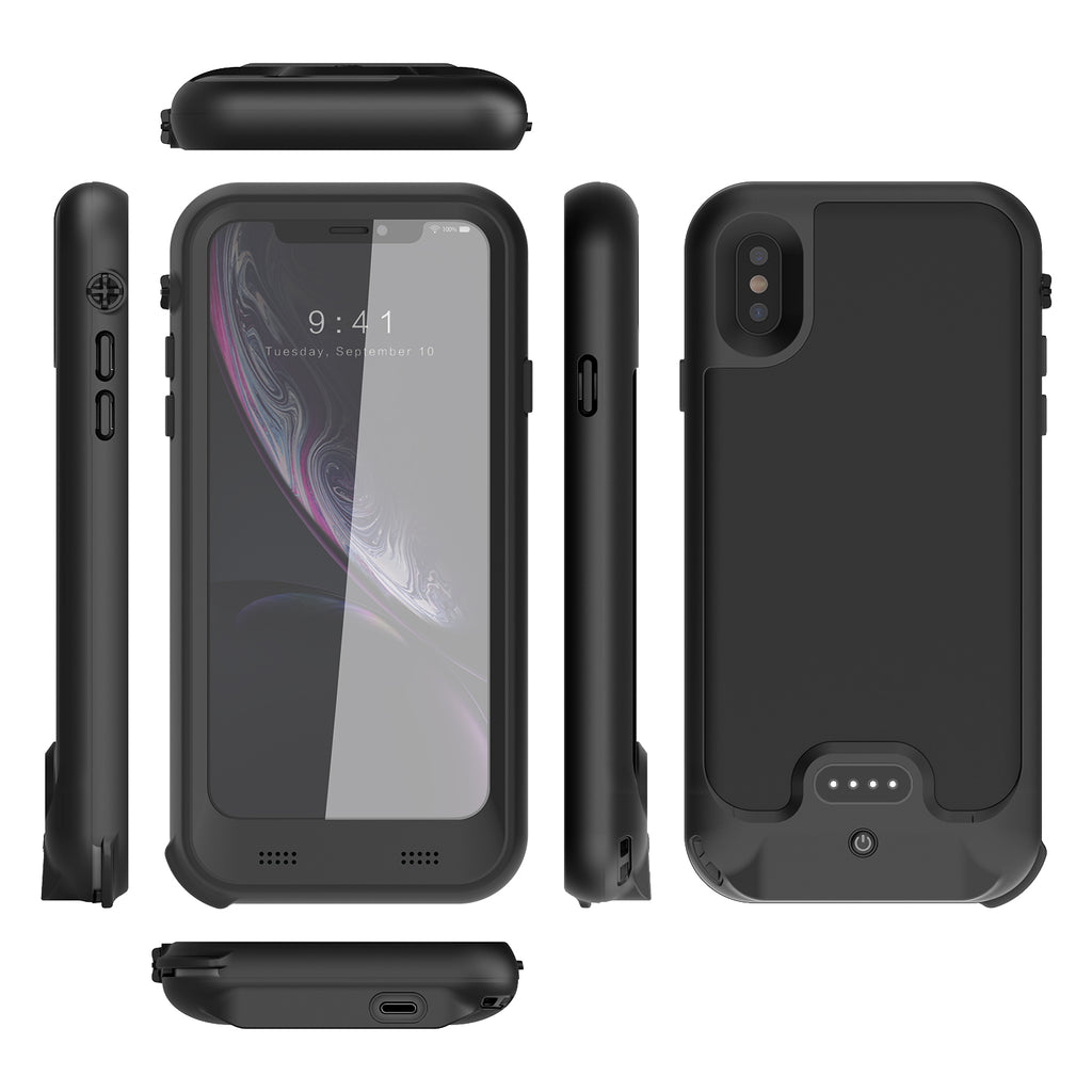 iPhone XS Battery Case: Waterproof & Wireless Charging (3400 mAh)