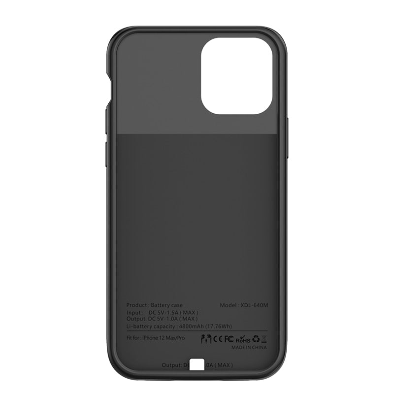 iPhone 12 Pro Battery Case (4800 mAh)