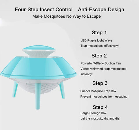 Mosquito Killer Electronic Non-Toxic USB Powered (Pink Color)