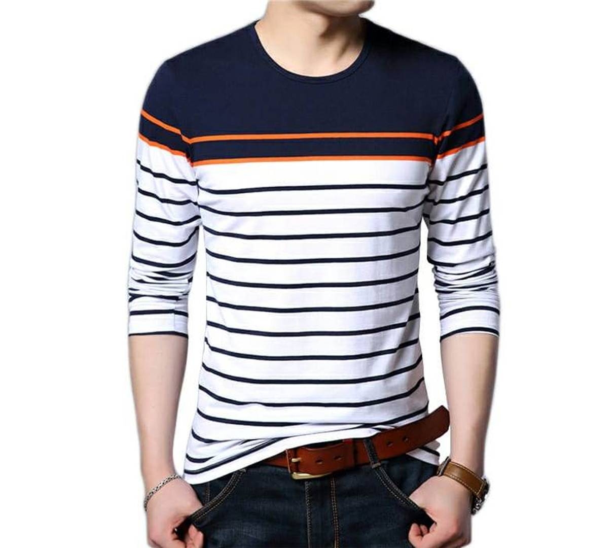 Seven Rocks Men Multicoloured Cotton Self Pattern Regular Fit Round Neck Tees