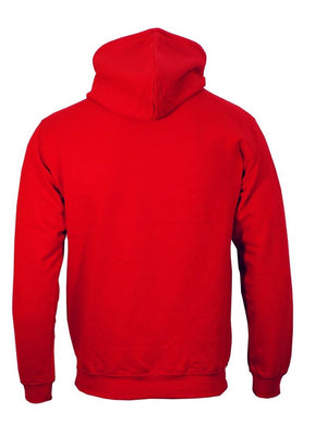 Men's Red Cotton Blend Printed Long Sleeves Regular Hoodies