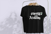 COFFEE & CARDIO BLACK T-SHIRT FOR WOMEN