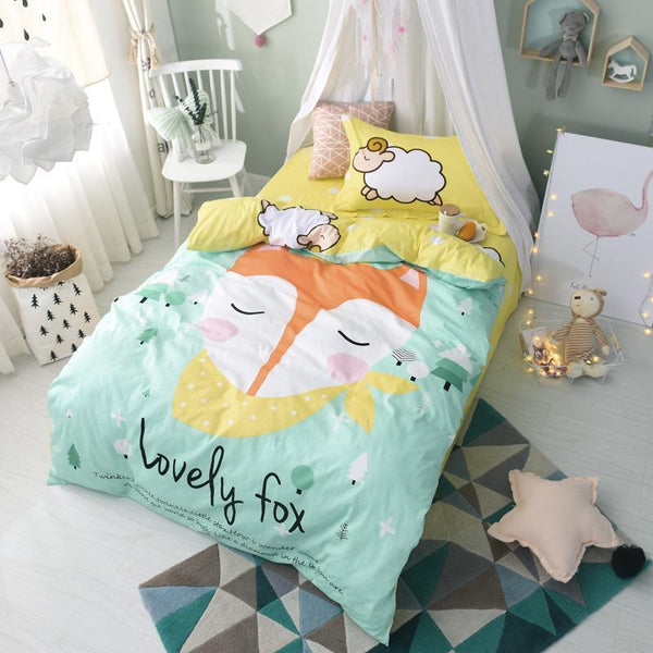 100% cotton  Cartoon Bedding set