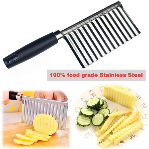 Stainless Steel Potato Wavy Edged Knife