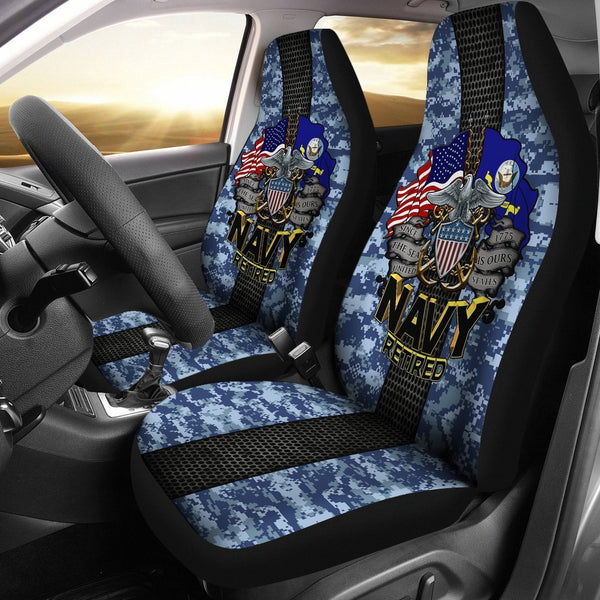 U.S Navy Retired Car Seat Covers