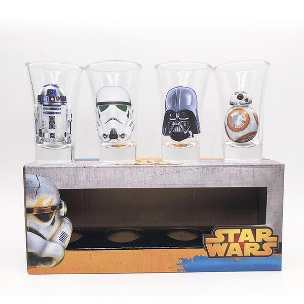 4PCS Star Wars Creative Cocktail Glass Set