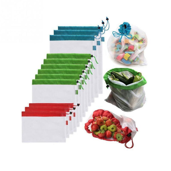 Zero Waste Produce Reusable Bags (5Pcs Set)