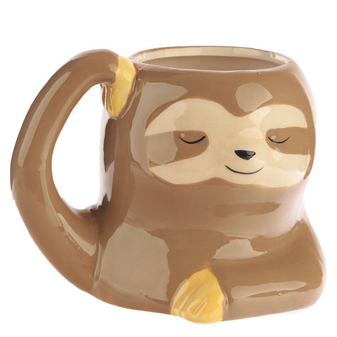 Painted 3D Sloth Coffee Mug