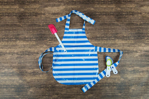 Child Craft Apron Blue Stripes with Personalization Option