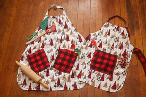 Childs Trendy Trees Baking Apron