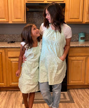 Childs Jess Mint Arrow Apron with Personalization Option