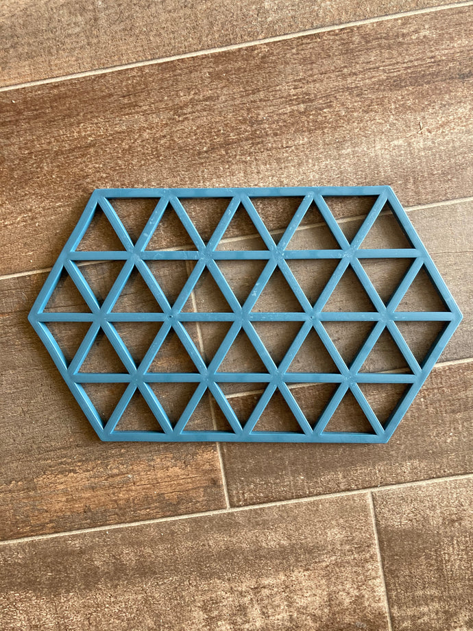 Get out Silicon Trivet in Gray & Turquoise