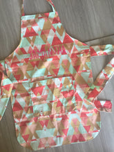 Samantha Geometric Apron with Personalization Option (Teen Size)