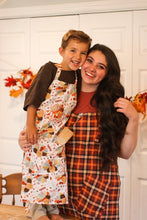 Elizabeth Fall Plaid Womens Baking Apron