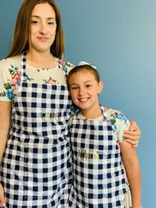 Womens Navy Blue Perfect Baking Apron with Personalization option