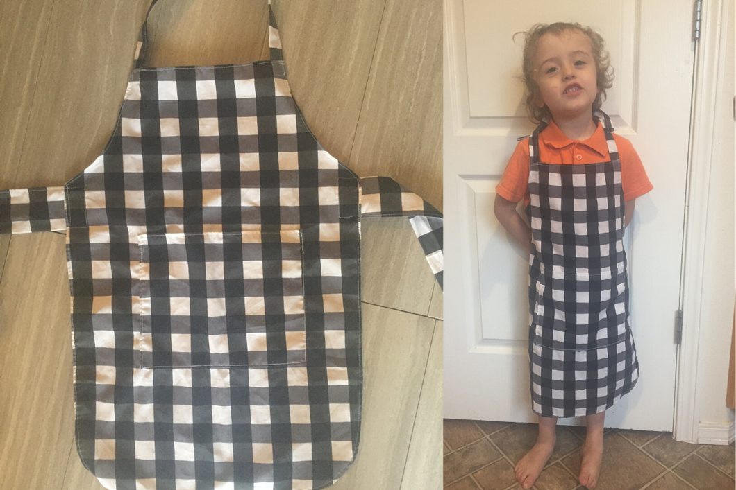 Child's Black Perfect Baking Apron with Personalization Option