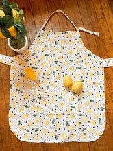 Womens Size Lemony Baking Apron with Personalization Option