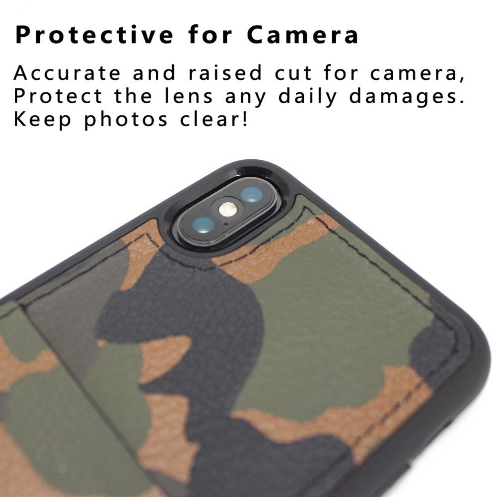 KASOworkshops iPhone X Wallet Case Camo
