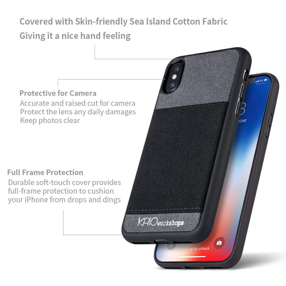 competitive price c5319 24839 Elastic Pocket iPhone XS Case (Dark Gray)