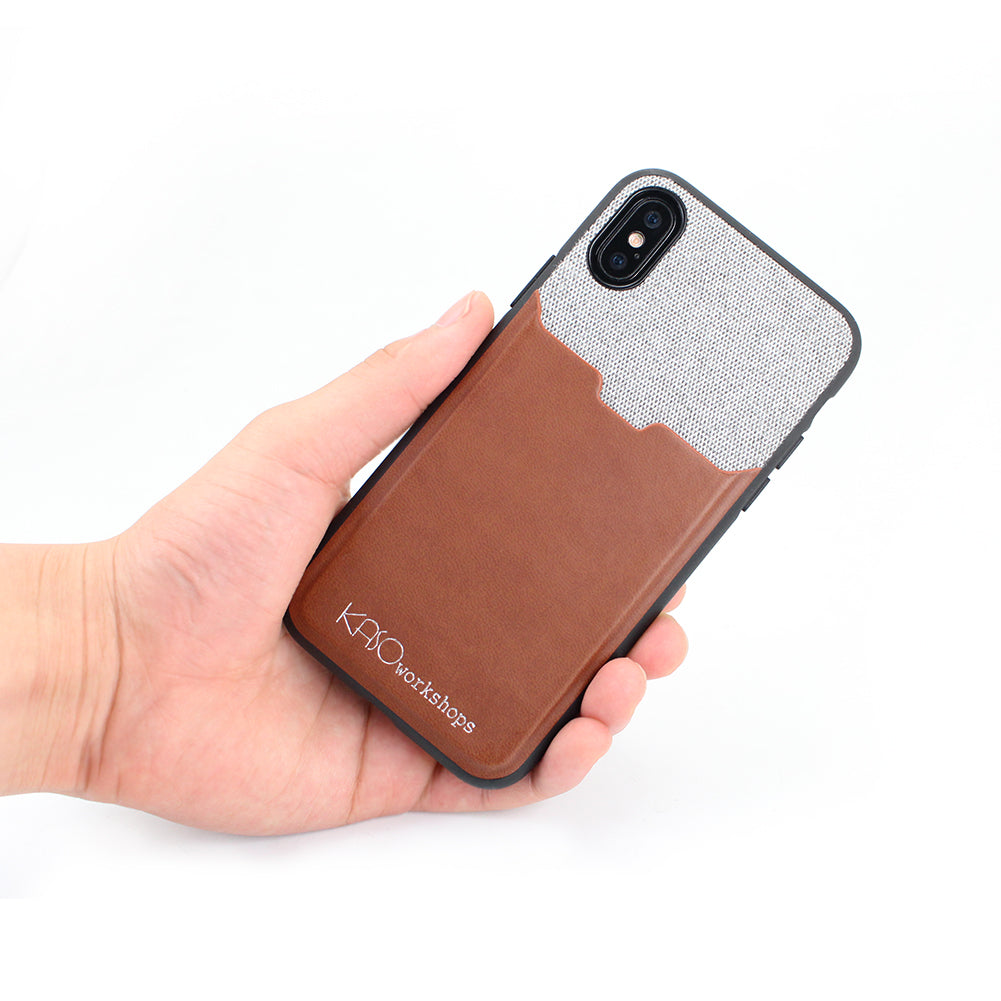 iPhone X Fabric Credit Card Holder Wallet Case Elastic Pocket Gray