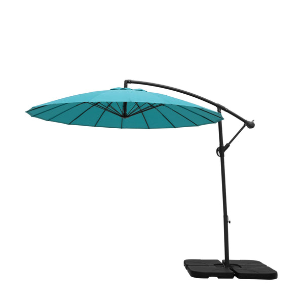 2.7m Cantilever Parasol with 18 Ribs in Blue