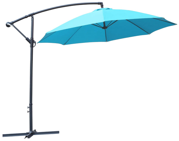 2.7m Cantilever Parasol with 8 Ribs in Blue