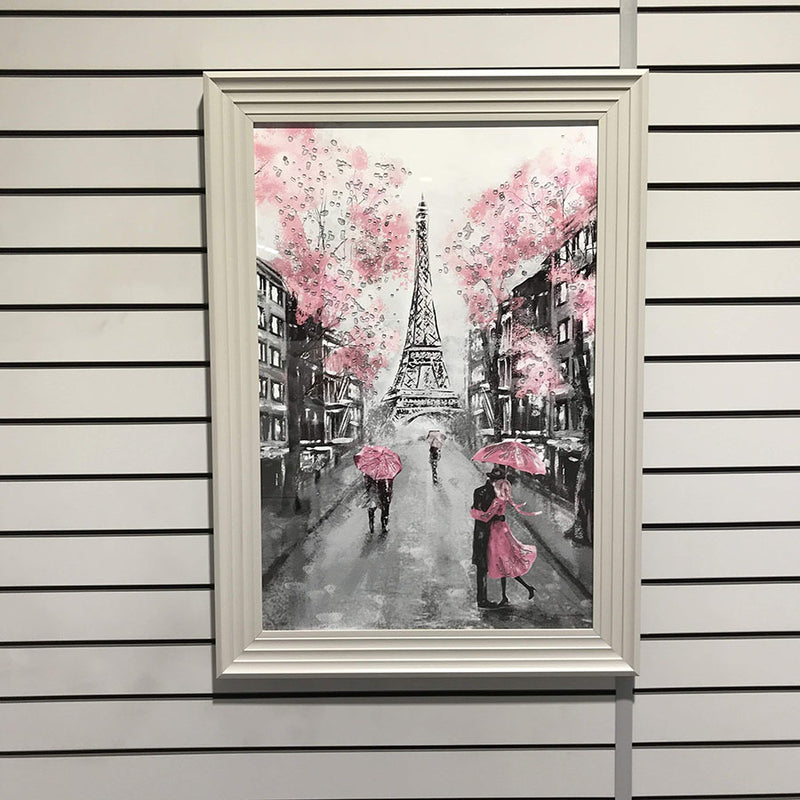 Eiffel Tower Print (Grey Frame) 105cm x 75cm